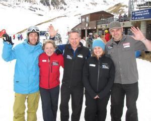 Remarkables Ski Area senior leadership team members (from left) Adam Moore, Judy Stevens...