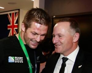 Richie McCaw with Prime Minister John Key. Photo: Getty Images