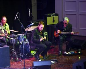 Robbie Yeats, Shayne Carter and Michael Morley play at the iD Dunedin Emerging Designers Fashion...