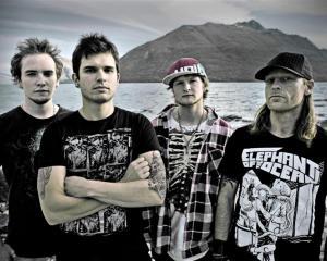 Rules of Addiction (from left) guitarist-vocalist Al Parr, lead vocalist-guitarist Mauricio...