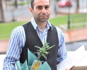 Saif Abdulwahab A. Abdulla is pleased to be a New Zealander after a citizenship ceremony in...