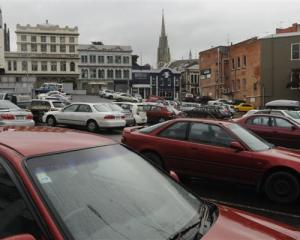 "Scene of the ""crime"" ... The Dowling St car park yesterday.  Photo by Peter McIntosh."