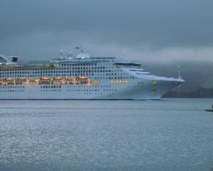 Sea Princess enters Otago Harbour last October. Photo by Stephen Jaquiery.