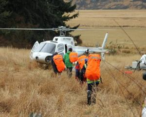 Searchers head for the Ahuriri Valley during last month's efforts to find a missing tramper....