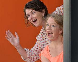 Singers Charlotte McKay (left) and Harriet Moir premiere their Dunedin Fringe Festival comedy...