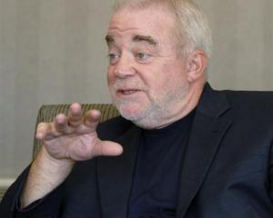 Social justice campaigner the Rev Jim Wallis in Dunedin yesterday. Photo by Gregor Richardson.