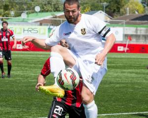 Southern United captain Victor da Costa in action against Canterbury United in Christchurch on...