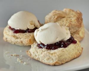 Suz's scones from Bannockburn Cafe and Store. Photos by Tim Hawkins.
