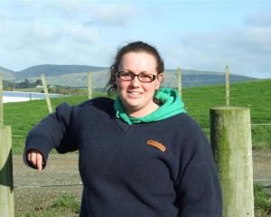 Telford Rural Polytechnic student Trudy Robertson, who graduates tonight, at Telford yesterday....