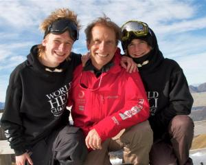The Bilous family (from left) Hank,  Peter and Finn,  of Hawea Flat, have a long association with...