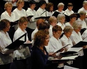 The Central Otago Regional Choir, with guest soprano Sue Densem, of Christchurch, in Wanaka in...