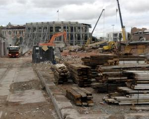 The Christchurch  rebuilding is creating interest in the fortunes of Fletcher Building. Photo by...