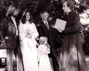 The Colberts' 1970s marriage in Christchurch. From left, Roy Colbert, wife Christine, daughter...