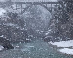 The Edith Cavell Bridge over the Shotover River.