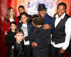 "The family of late singer Michael Jackson attend the premiere of ""Michael Jackson THE IMMORTAL..."