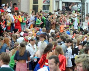 The Hyde St Keg Party in full swing. Photo by Craig Baxter.