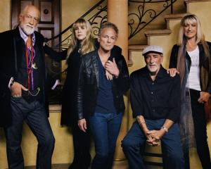 The line-up .. . Mick Fleetwood, Stevie Nicks, Lindsey Buckingham, John McVie and Christine McVie...