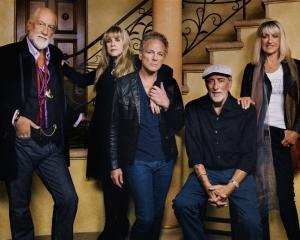The line-up .. . Mick Fleetwood, Stevie Nicks, Lindsey Buckingham, John McVie and Christine McVie...