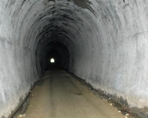 The old railway tunnel under Big Hill on the Clutha Gold Trail. Photo by John Fridd.