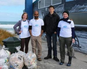 The Our Seas Our Future team picked up 600 litres of rubbish at the weekend. Photo supplied.