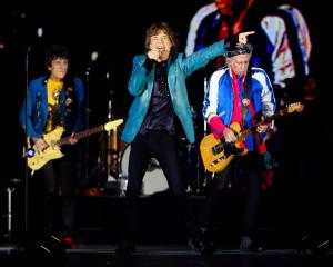 The Rolling Stones perform during their concert in Singapore at the weekend. Photo Reuters