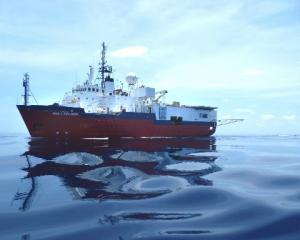 The seismic survey vessel Aquila Explorer, which is doing the early exploration work for Shell...