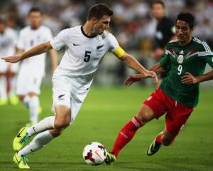 Tommy Smith in action against Mexico in Wellington. Photo Getty Images