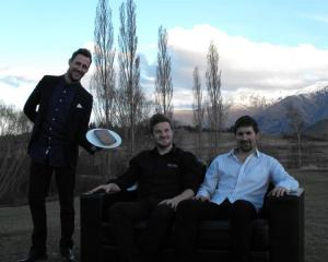 Twin Rivers trio (from left) marketing manager  Dave Hockly, managing director Ben McGill and...