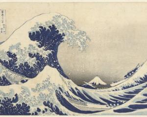 Under the Wave at Kanagawa by Katsushika Hokusai, on display at the Dunedin Public Art Gallery....