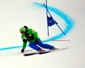 United States ski racer Bode Miller in action on Coronet Peak yesterday ahead of the 2013 Winter...