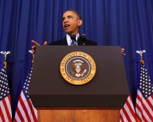 US President Barack Obama speaks about his administration's counterterrorism policy at the...