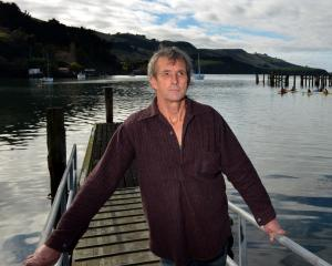 Vision Port Chalmers chairman Bill Brown at Fisherman's wharf, one of the wharves around Otago...