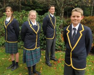 Wakatipu High School pupils (from left) Monique Hannagan (15), Millie Atkin (16), Matthew...