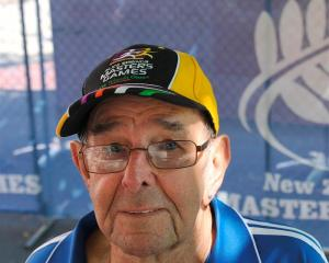 Wanganui's Bevan Tasker at the New Zealand Masters Games headquarters yesterday. Photo by Craig...