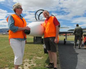Warbirds Over Wanaka International Airshow event manager Mandy Deans and general manager Ed...