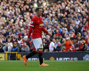 Wayne Rooney leaves the field after being sent off during Manchester United's match against West...