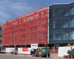 Work under way on the corner of Montreal and Salisbury Sts in Christchurch in January, for retail...