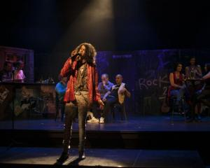 Young Queenstown musical talent Sam Maxwell leads a large ensemble in the latest original ''rock...