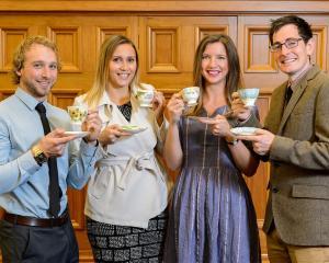 University of Otago Freemasons Scholars (from left) Conrad Goodhew, Shannon Tumataroa, Anna...