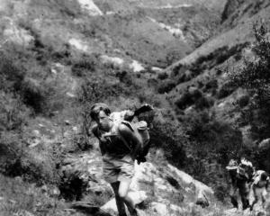 A shooting trip up the Billie Creek heading for the Motutapu and Glendhu Bay in 1952. Photo:...