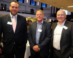 Adam Binns, Dave McPhedran and Russell Quin, all of Dunedin.