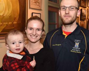 Alexander (1) Mockford, Kristel De Ryck and Aaron Mockford, all of Dunedin.