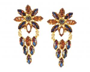 Harlequin Market Crystal earrings, $250