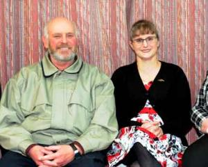 Ray Beardsmore of Woodside, Kevin Phillips and Jenny  Newstead, both of Mosgiel, and Eve...