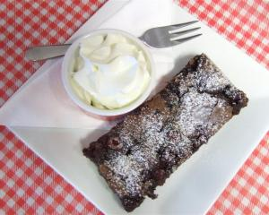 The Coffee Cup Cafe's raspberry fudge brownie. Photo supplied.