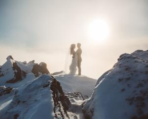 This was at the top of Cecil Peak, we definitely got the snow photos we wanted! And this small...