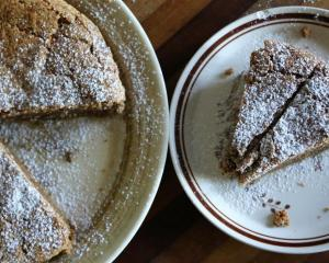 Walnut torte. Photo: Simon Lambert