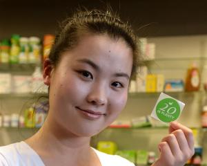 University of Otago senior pharmacy student Harumi Tanimura (22) is promoting a ''20 is Plenty''...