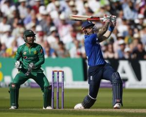 Alex Hales during his innings. Photo: Reuters