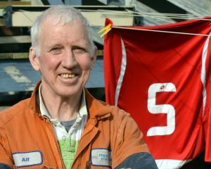 Veteran Balclutha defender Alf Nicol waited 38 years for a second title. Photo: Stephen Jaquiery.